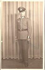 Vintage photo AK 2. Weltkrieg / Soldat im Atelier - 1940er