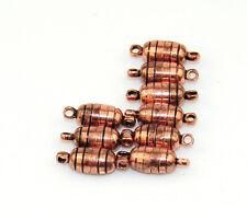 Strong magnetic vintage brass clasp for craft/necklace bracelet 15mm x 5mm