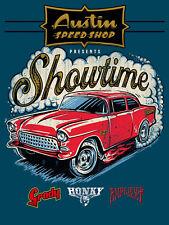 Metal Vintage SHABBY-CHIC Austin Speed Shop Plaque/Frigo Magnétique