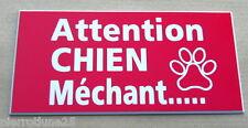 plaque gravée ATTENTION  CHIEN MECHANT format 48 x 100 mm