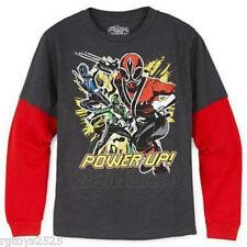 Power Rangers Samurai t-shirt 4-5 7-8 10-12 14-16 18-20 New Childs Hidden Glow