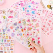 Cute Uncorn Flower Sakura Photo Sticker for Scrapbook Dairy Photo Album 6 Sheets