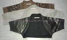 boléro chauffe épaules gilet XS S M L bustier veston coton cuir neuf