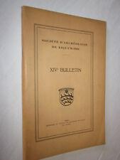ALSACE:SOCIETE d'ARCHEOLOGIE DE RIQUEWIHR XIVe BULLETIN 1930