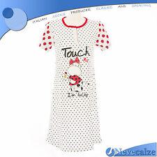 Camicia da notte donna estate in cotone  manica corta tg S M L XL XXL   DECAM025