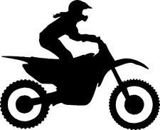 Female Dirt Bike motocross girl rider bike vinyl sticker decal