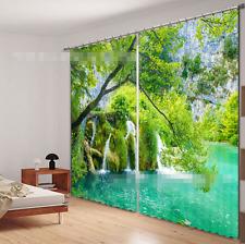 3D Stream Tree Blockout Photo Curtain Printing Curtains Drapes Fabric Window Ca