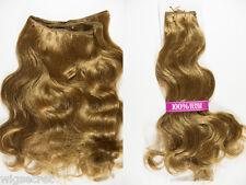 Long Medium Human Hair  Wavy Straight Blonde Brunette Red Weft Hair Pieces