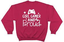 Girl Gamer y orgullosa Adorables Unisex Jersey De Manga Larga Suéter Sudadera