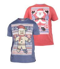 D555 Mens Christmas T-Shirt (SNOWFLAKE)