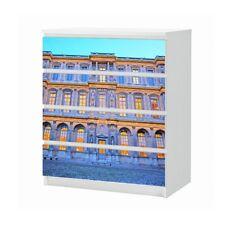 Set Möbelaufkleber für Ikea Kommode MALM 4 Fächer Louvre Paris Folie 25B1442