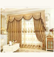 European Golden Royal Luxury Curtains for Bedroom Window Living Room: Price drop