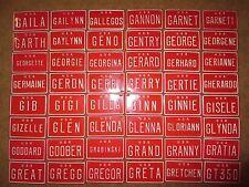 U S A Mini Bike Bicycle Vanity Metal Red License Plate Sign Gaila - GT 350