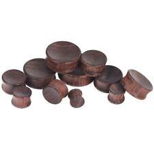 8MM-30MM Wood Ear Plug Wood Stopper Piercing Precious Concave Brown Plugs