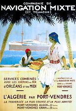 Affiche compagnie maritime de Navigation Mixte Touache - Algérie