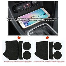 Carpet Nonslip Insert Tray Pad Console Cup Holder Tray 4P for KIA 17-18 Sportage