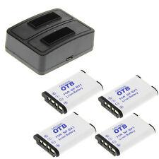 Cargador Duo + 4 baterías tipo Sony np-bx1, estación de carga batería batería de repuesto