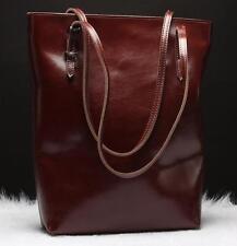 ladies real Leather Large messenger Tote Bag Shoulder Satchel Handbag bucket bag