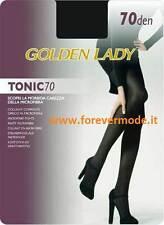 2 Collant donna Golden Lady in microfibra coprente, cuciture comfort art Tonic70