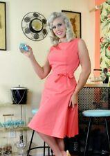 NEW Heart of Haute Coral Pink Dress S/M/L/XL PLUS SIZES 1XL/2XL Rockabilly Pinup