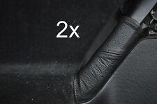 black stitch FITS VW GOLF MK3 3 III LEATHER 2X REAR DOOR HANDLE COVERS