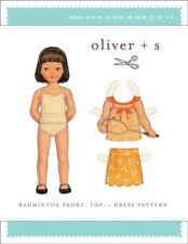 Oliver + S Girls Easy Sewing Pattern Badminton Skort, Top & Dress (OSP031...