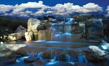 Fototapete Tapete Wandbild Vlies F00193 Blauer Wasserfall #GESCHENK GRATIS#