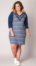-15% Jeans Kleid von Yesta XXL, Gr. 48 und 52, Strickstoff Jeansstoff, neu X-Two