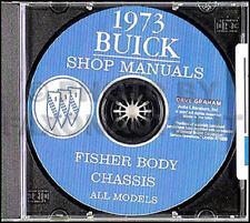 1973 Buick Shop Manual CD 73 Regal Century Centurion Riviera LeSabre Electra