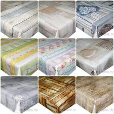 TRAVE di legno TAVOLE per terrazza Bordo PVC Vinile Tovaglia in tela cerata tavolo da pranzo cucina