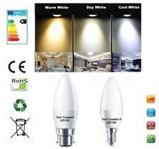 3/6/12x E14 B22 5 W DEL SMD Candle Globe Ampoules Lumière Spotlight -2 ans de garantie