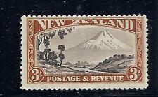 NEW ZEALAND  1936 Scott 216a 3sh 12.5 X 12.5 F/VF MLH
