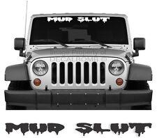 "MUD SLUT ""dripping"" dirt windshield decal sticker diesel turbo race pro offroad"