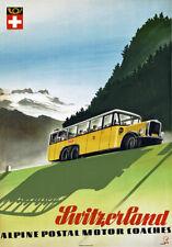 Tr46 VINTAGE SVIZZERA ALPINE TRAVEL poster A1 A2 A3