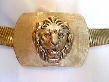 ANNE KLEIN FOR ACCESSOCRAFT LION HEAD SNAKE BELT  Vintage