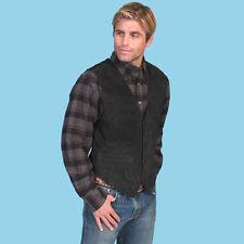 Black Boar Suede Western Men's Vest