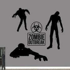 Zombies Wall Decal Set - Kids, Teens, Man Cave, Bedroom, Wall Art, Sticker