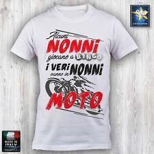 T-shirt Maglietta NONNO Motociclista Motorbike festa dei nonni Idea regalo Nonni
