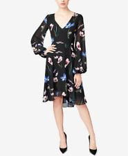 Betsey Johnson Women's Floral-Print A-Line Dress Black Multi