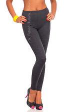 Full Length Graphite Dark Grey Premium Cotton Leggings Stretchy Pants Sizes 8-22