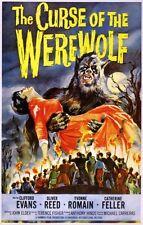 CURSE OF THE WEREWOLF HAMMER HORROR FILM A3/A2 REPRINT