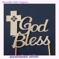 Religious Cake Toppers Baptism, Communion, Confirmation Australian Seller