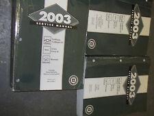 2003 OLDSMOBILE BRVADA TRUCK Service Shop Repair Manual SET DEALERSHIP HUGE