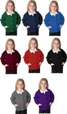 Girls Fleece School Cardigan Sweatshirt Uniform Age 2-14 Yrs & Adult S-XXL