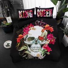 3D King&Queen Skull Bedding Set 3Pc Of Duvet Cover & Pillow Case