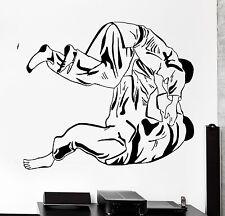 Wall Sticker Sport Judo Jiu-Jitsu Wrestlers Fighting Vinyl Decal (z3014)