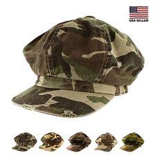 Unisex Mens Womens Summer Winter Casual Camouflage Gatsby Newsboy Cap Cabbie Hat