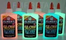 Elmers GLOW IN THE DARK Glitter Glue 2 PACK BUYER CHOOSES COLOR! Gr8 4 Slime 5oz
