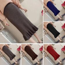 Autumn Winter Women's Long Skirts High Waist Ruffled Slim Bodycon Pencil Skirt