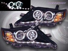 10 11 Toyota Camry LE/SE/XLE Projector Headlights Black CCFL Twin Halo LED Strip